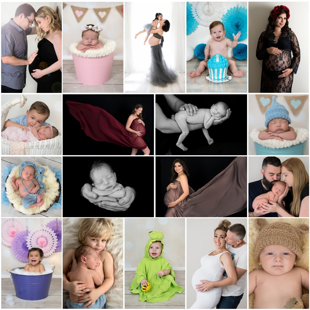 Zash Photography image collage, Newborn, Maternity, toddler