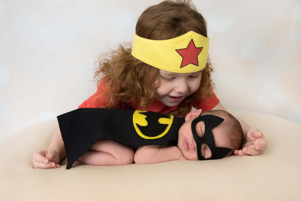 Newborn superhero photography Brisbane
