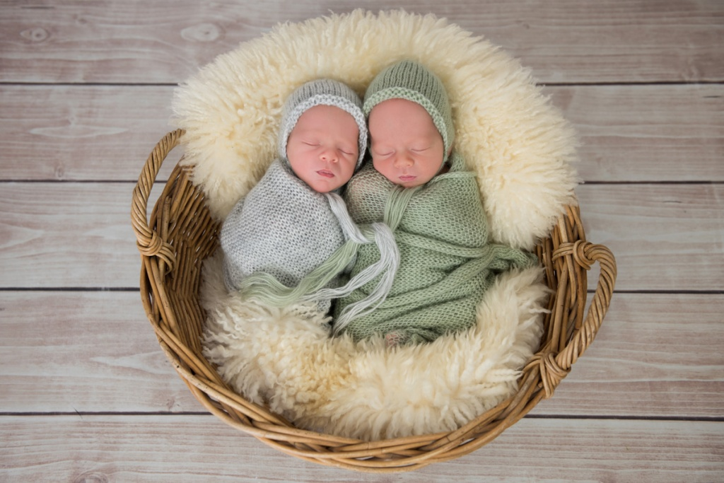 Newborn Twins by Zash Photography
