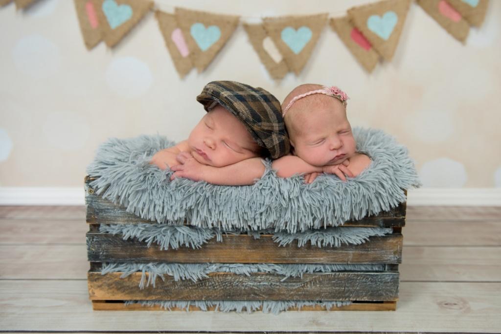 Newborn Twins Brisbane studio